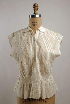 Blouse ca. 1935-1939 via The Costume Institute of the Metropolitan Museum of Art