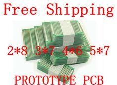 Dropshipping 20pcs 5x7 4x6 3x7 2x8cm double Side Copper prototype pcb Universal Board Fiberglass board for Arduino