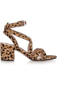 Gianvito Rossi | Leopard-print calf hair sandals (=)