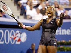 Serena Williams' iconic 2002 U.S. Open catsuit by  Puma. This outfit is one of the most famous and memorable outfits in tennis history. Serena's Puma outfits were the best!