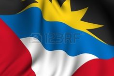Picture of Rendering of a waving flag of Antigua and Barbuda with accurate colors and design. stock photo, images and stock photography. Antigua Flag, Caribbean Flags, Flag Colors, Stock Photos, Design