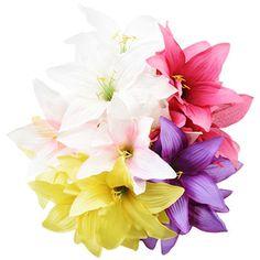 Floral Garden Artificial Lily Bushes, 17 in. Fake Flowers, Artificial Flowers, Beautiful Flowers, Dollar Tree Wedding, Diy Tutu, Raven Art, Florist Supplies, White Lilies, Carnations