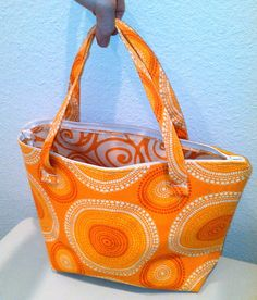PDF Pattern Carry Couple Tote and Cosmetic Bag easy to sew for beginners. $9.00, via Etsy.