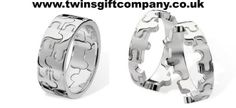 Joining Jigsaw Ring for twins Craig Personalized Gifts, Twins, Unique Gifts, Cufflinks, Rings For Men, Jewelry Design, My Style, Babys, Accessories