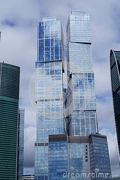 The skyscrapers of Moscow-City