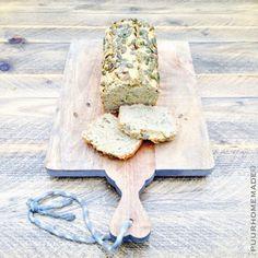 Boekweit-kikkererwtenbrood met pompoenpitten - Puur Homemade by Cilla Tibbe- www.puurhomemade.nl