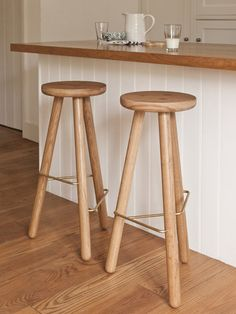 Oak stools made from FSC certified solid wood by Another Country Furniture