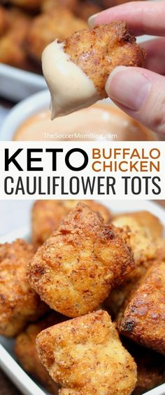 Diet Recipes Crispy, cheesy, and totally crave-able! They taste so good you'd hardly believe these Buffalo Chicken Keto Cauliflower Tots are guilt-free! - Crispy, cheesy Buffalo Chicken Keto Cauliflower Tots are guilt-free and totally crave-able! Healthy Diet Recipes, Ketogenic Recipes, Vegetarian Recipes, Keto Veggie Recipes, Healthy Food, Good Keto Snacks, Atkins Recipes, Healthy Protein, Keto Foods
