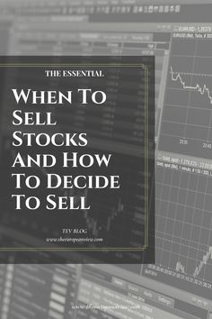 In this article I will talk about the right moment to sell stocks and how you should decide. With the guidelines, you can get through a crash easily. Money Management, Stock Market, Investing, Join, Wisdom, Thoughts, Writing, Blog, Things To Sell