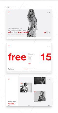Infographics , UI Design et Web Design - Showcase and discover creative work on the world's leading online platform f. Minimal Web Design, Ui Design, Interface Design, Page Design, Website Design Layout, Web Layout, Layout Design, Creation Web, Web Mobile