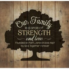 Honor your family with this beautiful pallet wood art piece. A large tree fills the piece is the perfect setting for the phrase Our family is a circle of strength and love; Founded on faith, joined in love, kept by God, together forever. Made of