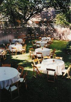 Possible Table Reception Set Up Barbie WeddingWedding DressWedding BackyardBackyard