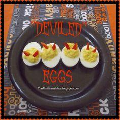 """Deviled"" Eggs A Halloween Favorite #deviledeggs #Halloweenfood"