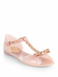 e561c735b03d Stuart Weitzman - Nifty Studded Jelly T-Strap Sandals