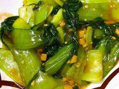 チンゲン菜とニンニクの簡単中華炒め♪の画像