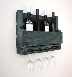 Wine rack - wine rack from wood - wine rack for wall - reclaimed wood - wall decor - home decor - wall hangings