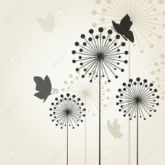 The Butterfly Sits On A Flower A Dandelion Royalty Free Cliparts ...
