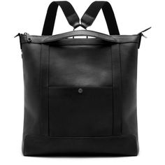 Mulberry Multitasker Backpack Black Calfskin ($1,590) ❤ liked on Polyvore featuring bags and backpacks