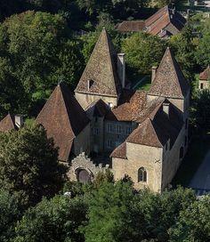 La vue depuis les jardins du château de Arlay - Jura