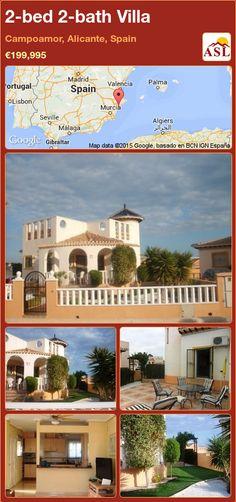2-bed 2-bath Villa in Campoamor, Alicante, Spain ►€199,995 #PropertyForSaleInSpain