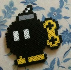 Bob-omb requested by my husband.  Design from http://m.flickr.com/#/photos/tawniemarie/7249380798/