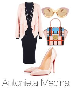 """Untitled #66"" by antoo-xoxo on Polyvore featuring Warehouse, Christian Louboutin, Michael Kors and Karen Walker"