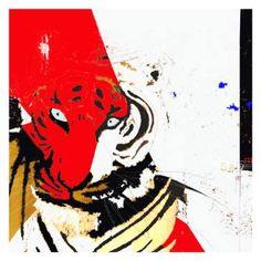 "Saatchi Art Artist Simone Guimaraes; Drawing, ""Indochinese Tiger (head), Limited…"