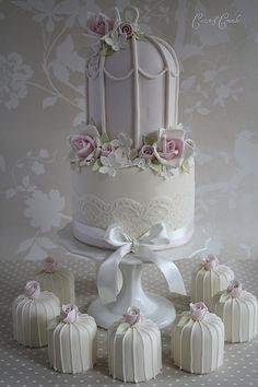 Pretty pink birdcage cake   Flickr - Photo Sharing!