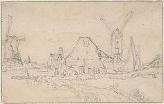 Rembrandt : Landscape With Two Mills