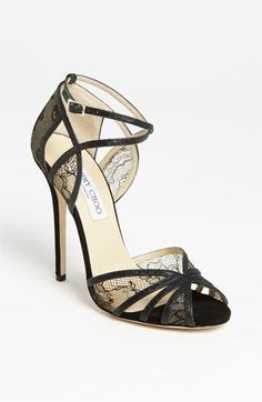 Free shipping and returns on Jimmy Choo 'Fitch' Sandal at Nordstrom.com. Subtle shimmer frames the ladylike lace of an impeccably cut sandal perched atop a slim, wrapped heel.