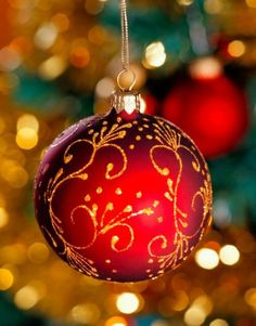 Beautiful Red Christmas Ornament