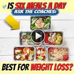 Diets Plans – 7 Day : Illustration Description Ask the Coaches: Is Six Meals a Day Best for Weight Loss? Weight Loss Tea, Fast Weight Loss, Fat Fast, Healthy Weight Loss, Losing Weight, Lose 20 Pounds, Loose Weight, Weight Loss Motivation, Food Videos