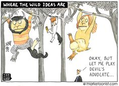 IDEO founder Tom Kelley once called the devil's advocate the single greatest threat to innovation Marketing Innovation, Taboo Topics, Friday Humor, Funny Friday, The Devil's Advocate, Book Quotes, Book Sayings, The Wiz, Design Thinking