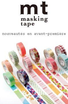 Masking Tape : rouleaux papiers japonais adhésifs décoratifs