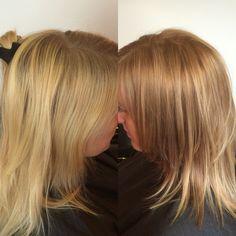 Blonde gold blond said ombré sombre natural colour
