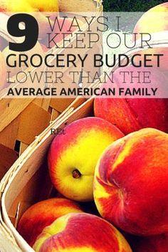 9 ways to keep the food budget low. Money Saving Meals, Save Money On Groceries, Ways To Save Money, Money Tips, Frugal Living Tips, Frugal Tips, Food Cost, Food Budget, Budget Meals
