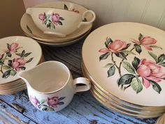Homer Laughlin Pink Magnolia Rhythm China Dishes 35 Pieces