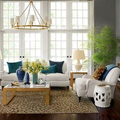 I want to move right into this living room by Williams-Sonoma Home featuring their Bedford seating, Seneca accent tables and that amazing Devon chandelier. My Living Room, Home And Living, Living Room Decor, Living Spaces, Cozy Living, Williams Sonoma, Sofa Upholstery, Upholstered Furniture, White Rooms