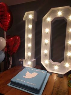 We have NEVER seen a cake this big! Our light up numbers are actually 5ft high - so you can image how gigantic this scrummy cake is. Twitter know how to throw a party!
