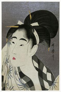 Ase o fuku onna (Woman Wiping Sweat), Ukiyo-e, 1798