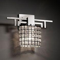 Wire Glass Aero Polished Chrome Wall Sconce