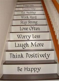 Life Quotes Stair Riser Decals, Stair Decals, Stair Stickers, Wall ...