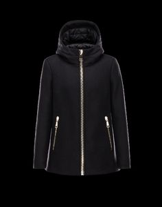 Moncler online shop österreich, Moncler ARBU Damen Jacke Für Sie Schwarz Schurwolle/Polyamid 41466662HV