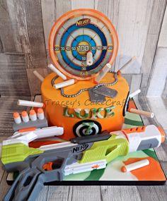 Nerf Gun birthday cake.