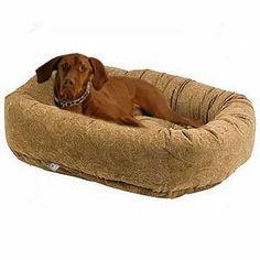 Paisley Cedar Donut Dog Bed