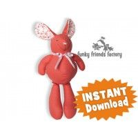 Baby Bunny Rabbit Soft Toy Sewing Pattern