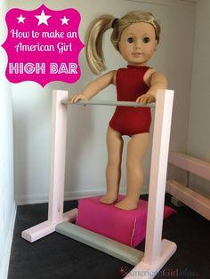 How to Make an American Girl Doll High Bar: Gymnastics Series Part 4