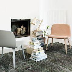 Visu nojatuoli, verhoiltu, harmaa   Muuto Visu   Nojatuolit & Sohvat   Huonekalut   Finnish Design Shop