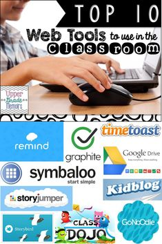 Top 10 web tools to use in the classroom for educators школа Teaching Technology, Technology Integration, Educational Technology, Technology Tools, Digital Technology, Flipped Classroom, School Classroom, Classroom Ideas, Future Classroom