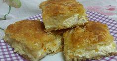Τυρόπιτα με φύλλο κρούστας και ο τρόπος να μοιάζει σαν χειροποίητο ! Spanakopita, Greek Recipes, Apple Pie, Cornbread, Muffin, Food And Drink, Healthy Recipes, Cheese, Baking